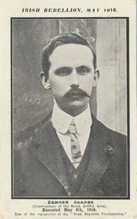 Eamonn Ceannt - Postcards from the 1916 Irish Rebellion Exhibit - Ward Irish Music Archives Exhibit