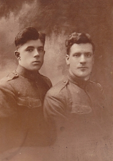 Louis Flanagan (left) with Joseph Browne