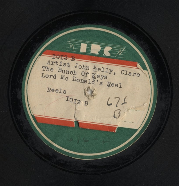 John Kelly 78 rpm disc