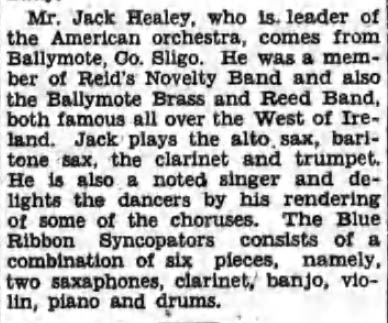 Jack Healy article - Irish American Advocate, September 13, 1930