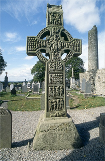 Monasterboice Scripture Cross.Co. Meath - Isle of Saints Exhibit