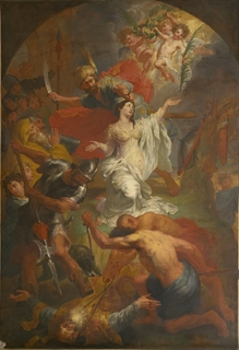 The Beheading of Saint Dymphna by Godfried Maes - Isle of Saints Exhibit