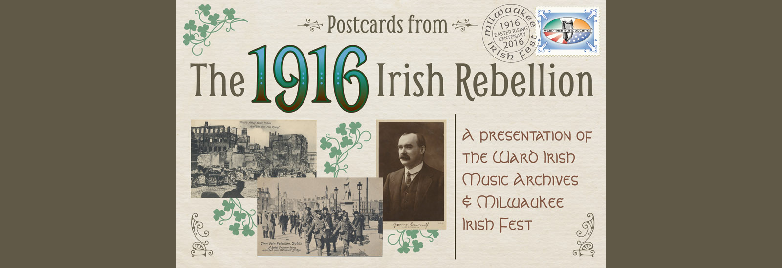 Postcards from the 1916 Irish Rebellion Exhibit